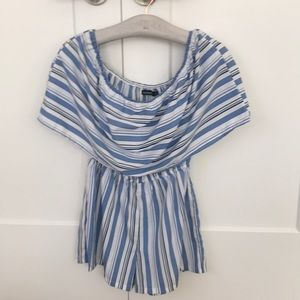ASOS striped off the shoulder romper